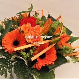 bouquet rond tons chauds