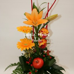 bouquet linaire tons chauds