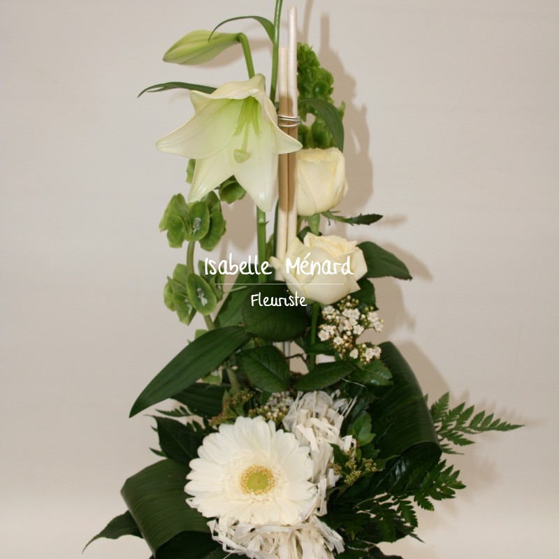 bouquet linéaire blanc