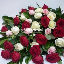 gerbe de roses couleurs -...