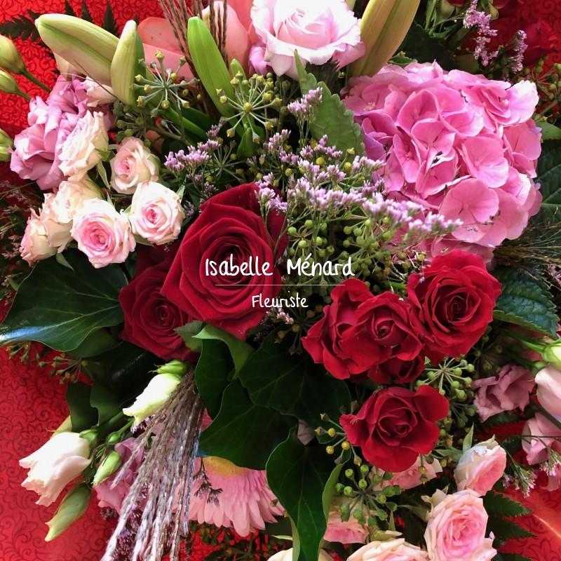 bouquet champêtre tons colorés