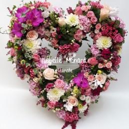 coeur ajouré de fleurs...