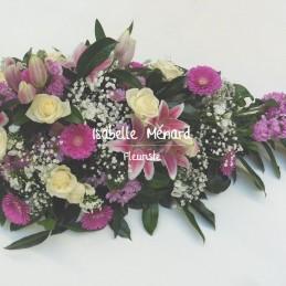 raquette en fleurs mélangées