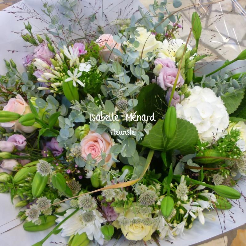beau bouquet champêtre pastel