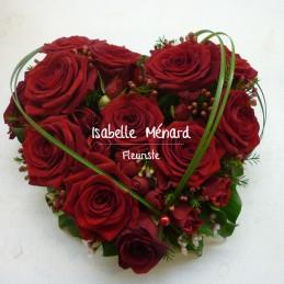 """coeur """"amour"""" de roses rouges"""